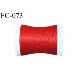 bobine de fil mousse polyester couleur rouge longueur 500 mètres largeur de la bobine 5.5 cm fabriqué en France