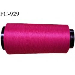 Cone de fil mousse polyester fil n° 110 couleur fuchsia longueur 1000 mètres bobiné en France