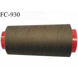 Cone 2000 m de fil mousse polyamide fil n° 120 couleur café bronze longueur du cone 2000 mètres bobiné en France