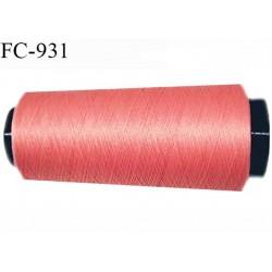 Cone 1000 m fil mousse polyester fil n° 110 couleur rose corail longueur 1000 mètres bobiné en France