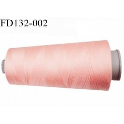 Destockage Cone 5000 m fil  polyester n°120 couleur rose saumon longueur 5000 mètres  bobiné en France