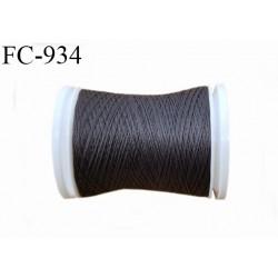 Bobine 500 m fil mousse polyamide n° 120 couleur gris tirant sur le taupe longueur de 500 mètres bobiné en France