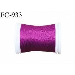 Bobine 500 m fil mousse polyamide n° 120 couleur pivoine longueur de 500 mètres bobiné en France