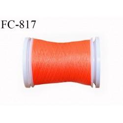Bobine 500 m fil mousse polyamide n° 120 couleur orange fluo longueur de 500 mètres bobiné en France