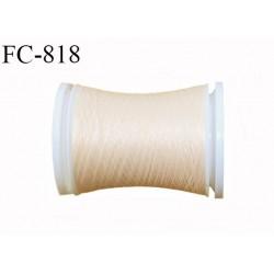 Bobine 500 m fil mousse polyamide n° 120 couleur perle crème longueur de 500 mètres bobiné en France