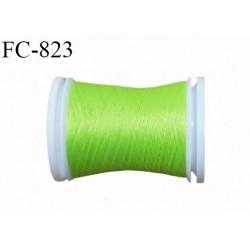 Bobine 500 m fil mousse polyamide n° 120 couleur anis longueur de 500 mètres bobiné en France