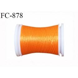 Bobine 500 m fil mousse polyamide n° 120 couleur orange longueur de 500 mètres bobiné en France