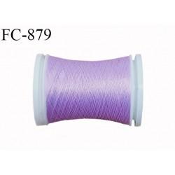 Bobine 500 m fil mousse polyamide n° 120 couleur lilas longueur de 500 mètres bobiné en France