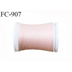 Bobine 500 m fil mousse polyamide n° 120 couleur rose chair longueur de 500 mètres bobiné en France