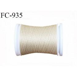 Bobine 500 m fil mousse polyamide n° 120 couleur beige chair longueur de 500 mètres bobiné en France