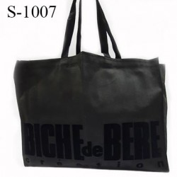 Tote bag Biche de Bere dimensions hauteur 54 cm largeur 40 cm épaisseur avec souflet 10 cm doux et très solide