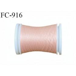 Bobine 500 m fil mousse polyamide n° 120 couleur rose saumon longueur de 500 mètres bobiné en France