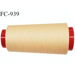 Cone 1000 m fil Polyester Coats épic fil n°120 couleur sable longueur 1000 m bobiné en France résistance à la cassure 1000 grs