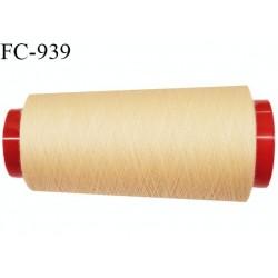 Cone 2000 m fil Polyester Coats épic fil n°120 couleur sable jaune 2000 m bobiné en France résistance à la cassure 1000 grs