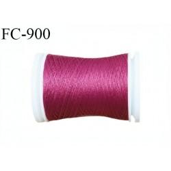 Bobine 500 m fil mousse polyester n° 110 couleur fuchsia longueur 500 mètres  bobiné en France
