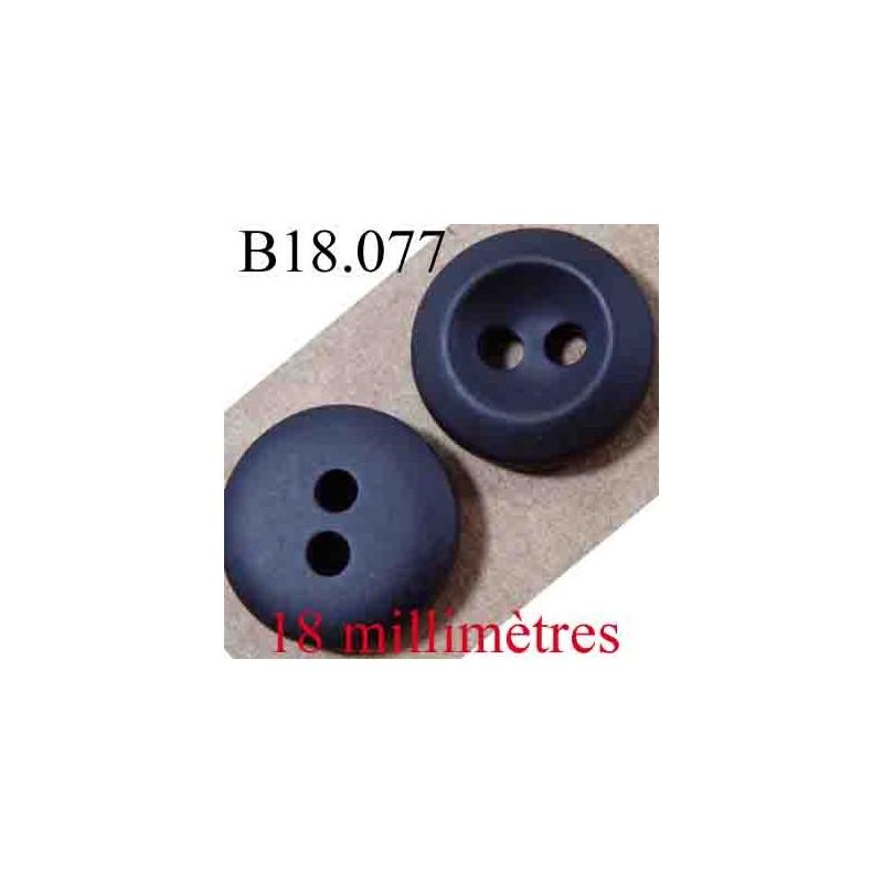 Bouton 18 mm couleur noir gris anthracite forme concave 2 - Couleur noir anthracite ...