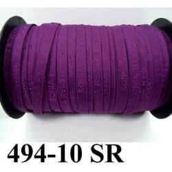 élastique de marque sonia rykiel inscription en surpiquage couleur hortensia violet lumineux foncé largeur 10 mm vendue au mètre