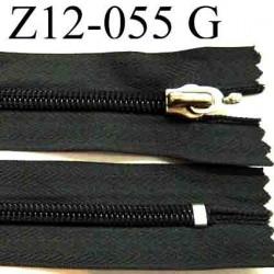 fermeture éclair grise longueur 12 cm couleur gris non séparable  largeur 3 cm largeur du zip nylon 6 mm curseur métal