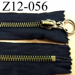 fermeture éclair  longueur 12 cm couleur noir non séparable largeur 3.3 cm  glissière métal  largeur du zip 6.5 mm