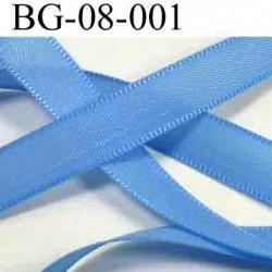 biais galon largeur 8 mm couleur bleu vendu au mètre
