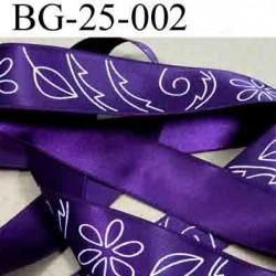 biais galon ruban satin couleur violet avec décor double face superbe largeur 25 mm vendu au mètres