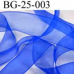 biais galon ruban couleur bleu brillant lumineux  largeur 25 mm polyamid vendu au mètre