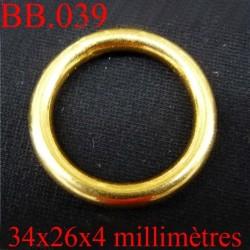 anneaux BICHE DE BERE en métal  34 mm EXT 26 mm int et 4 mm d'épaisseur  POUR REPARER OU CREER VOS BIJOUX BICHE DE BERE