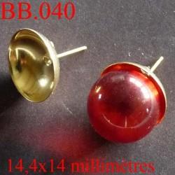 accessoire biche de bere  hauteur 14.4 millimètres largeur 14 millimètres  en métal   pour créer vos bijoux bijoux biche de bere