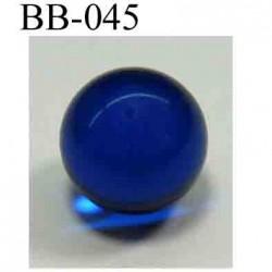 perle BICHE DE BERE couleur bleu non percée diamètre 14 millimètres POUR REPARER OU CREER VOS BIJOUX BICHE DE BERE
