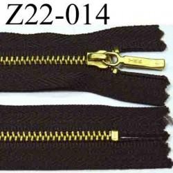 fermeture éclair YKK longueur 22 cm couleur marron non séparable largeur 2,8 cm zip métal largeur 4.3 mm