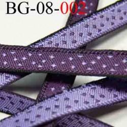 biais galon ruban couleur violet un coté et parme l'autre coté avec décor double face superbe largeur 8 mm vendu au mètres