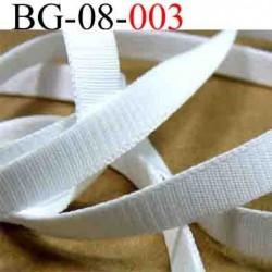 biais galon  couleur blanc cotelé largeur 8 mm vendu au mètre