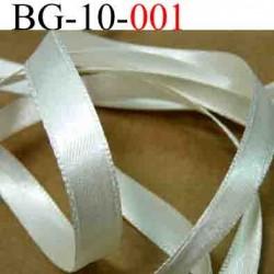biais galon ruban satin brillant couleur blanc écru double face superbe largeur 10 mm vendu au mètres