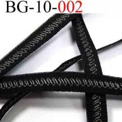 biais galon ruban couleur noir et gris avec décor   largeur 10 mm vendu au mètres