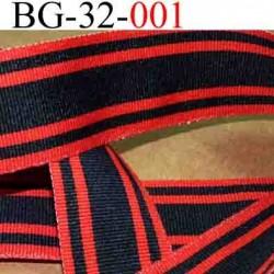 biais galon ruban couleur noir et rouge double face très solide acrylique largeur 32 mm vendu au mètres