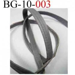galon biais passe poil  façon cuir ATTENTION craquelé au bord comme un cuir vieilli abimé largeur 10 mm  gris vendu au mètre