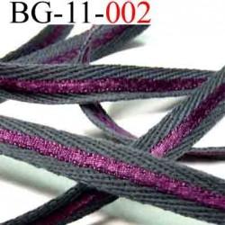 biais galon ruban couleur gris et le violet est brillant double face  largeur 11 mm vendu au mètres