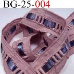 biais galon ruban couleur vieux rose et gris brillant lumineux à l'intérieur largeur 25 mm  vendu au mètre