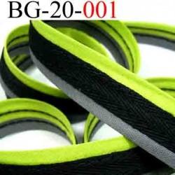 biais galon ruban couleur noir gris et vert anis très beau  largeur 20 mm vendu au mètres