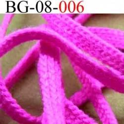 biais galon cordon bracelet lacet largeur 8 mm couleur rose fluo vendu au mètre
