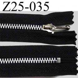 fermeture éclair  longueur 25 cm couleur noir non séparable largeur 2.6 cm glissière métal largeur 4.5 mm