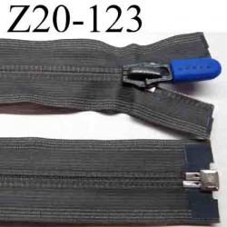 fermeture éclair invisible grise longueur 20 cm largeur 3 cm couleur gris séparable glissière zip nylon largeur 6.5 cm