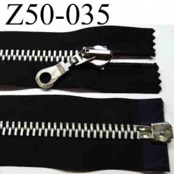 fermeture  éclair  longueur 50 cm couleur noir séparable  largeur 3,8 cm largeur de la glissière métal 8 mm