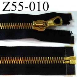 fermeture  éclair  longueur 55 cm couleur noir séparable superbe largeur 3,4 cm largeur de la glissière zip métal 9 mm