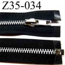 fermeture éclair longueur 35 cm couleur noir séparable  largeur 3 cm zip glissière métal largeur du zip 6 mm