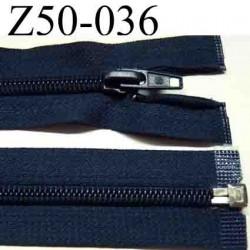 fermeture éclair  longueur 50 cm couleur bleu séparable  largeur 3.2 cm zip glissière nylon largeur du zip 6 mm