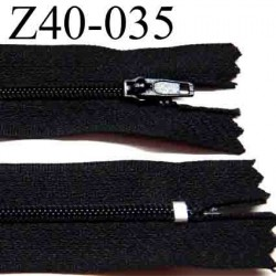 fermeture éclair longueur 40 cm couleur noir non séparable largeur 2.5 cm zip glissière nylon largeur du zip 4 mm
