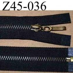 fermeture éclair  longueur 45 cm couleur noir anthracite séparable  largeur 2.7 cm zip glissière métal largeur du zip 4.5 mm