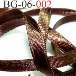biais galon ruban couleur marron bronse brillant lumineux double face très solide largeur 6 mm vendu au mètre