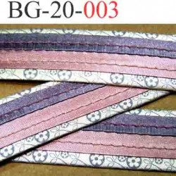 biais galon ruban  en satin brillant couleur violet parme rose et gris très beau  largeur 20 mm vendu au mètre